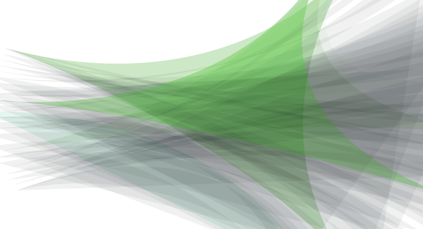 Abstract illustration of green and gray overlapping and layered triangles.